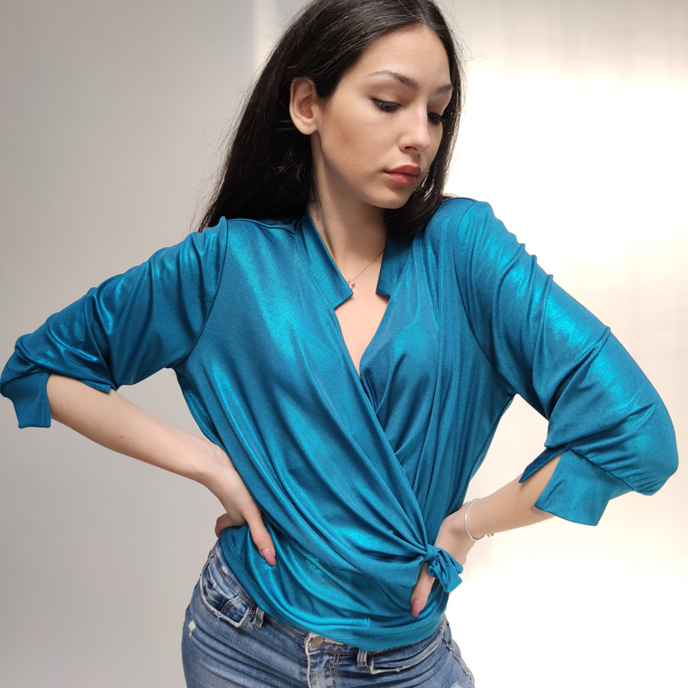 Plava majica 3/4 rukava